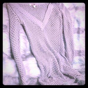 Mint Old navy sheer knit V neck sweater